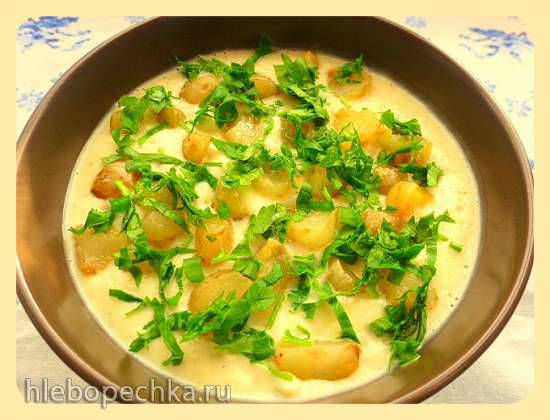 Topinambur - Cremesuppe aus Frasdorf (Bayern) - крем-суп из топинамбура