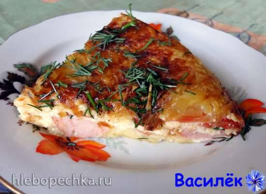 Овощная пицца в мультиварке-скороварке Moulinex CE502832