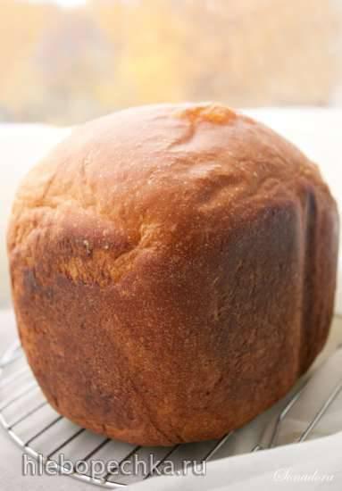 Пшеничный тыквенно-творожный хлеб в хлебопечке