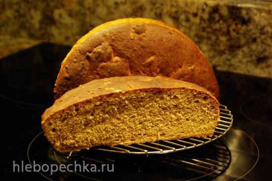 Пшенично-ржаной хлеб с семечками (духовка)