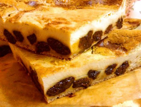 Бретонский пирог с черносливом (Far breton aux pruneaux) диабетически-диетическая версия