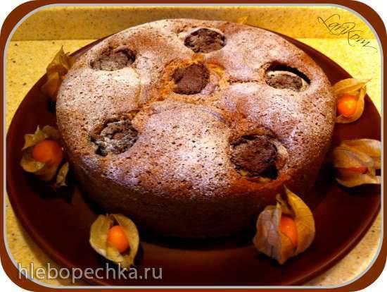 Пирог с шоколадными яблочками