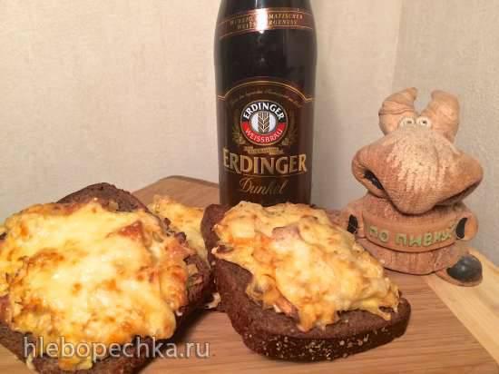Тосты с кислой капустой и сыром для пивной вечеринки (Sauerkraut - Brot kleiner Snack)
