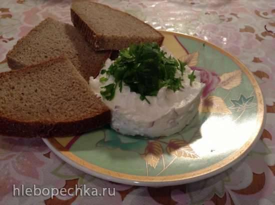 Деревенская трапеза: угощение по-баварски. Творог с луком.