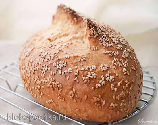 Мини-батоны с мукой из твёрдых сортов пшеницы Батон кунжутный