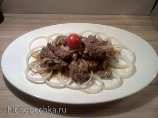 Нюрнбергский Ochsenmaulsalat (салат из говяжьих губ)
