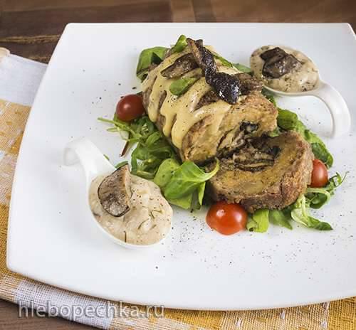 Рулет с картофелем и грибами