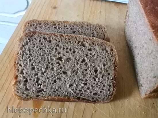 Ржаной хлеб на закваске (100% без добавок)
