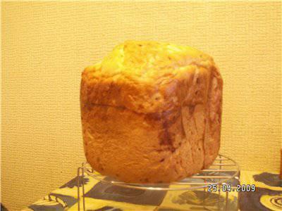 Хлеб пшеничный со свежим луком (хлебопечка)