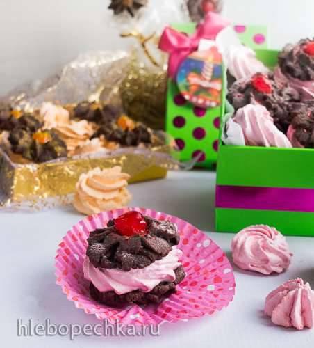 Венское шоколадно-зефирное печенье
