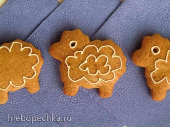 Пряники с ржаной мукой (Lebkuchen mit roggenmehl)