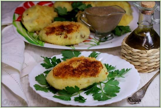 Картофельные лепешки с грибами