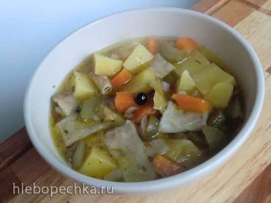 Суп из рубца Саксонские пятна (Sаchsische fleckensuppe)