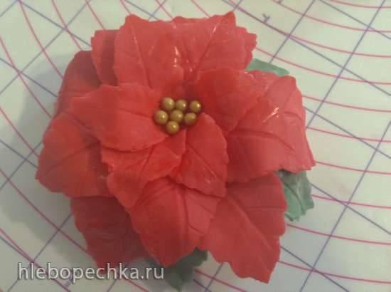Рождественская звезда / Пуансетия из мастики
