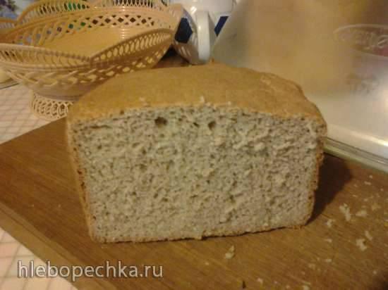 Простой ржано-пшеничный хлеб без добавок (50/50)
