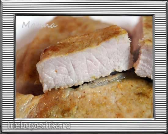 Стейк из свинины на косточке в мультиварке Panasonic SR-TMZ550
