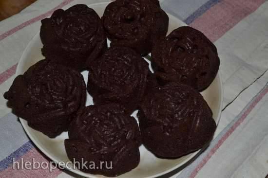 Брауни шоколадно-свекольный (в форме Nordic Ware Розочки)