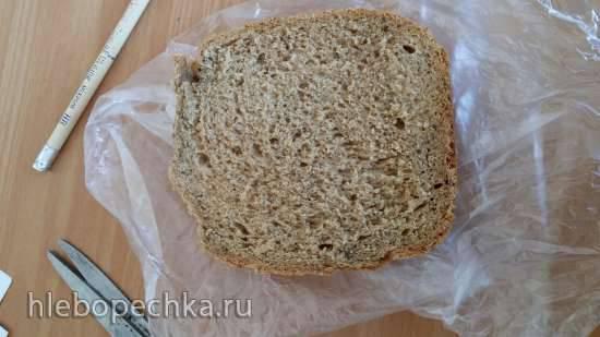 Пшенично полбянной хлеб с отрубями на закваске sekowa в хлебопечке