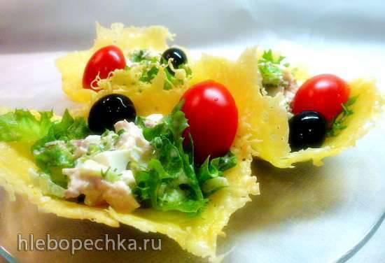 Сырные корзиночки (пиццамейкер)