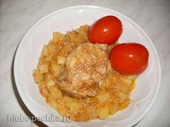 Рагу с картошкой и капустой (Polaris 0305)