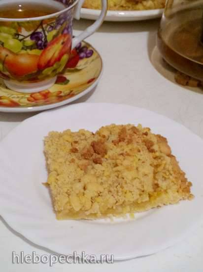 Песочный пирог с яблоками Крошка Желток