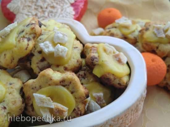 Апельсиновое печенье с шоколадом и цукатами (Оrangen schokoladen plаtzchen) Апельсиновое печенье с шоколадом и цукатами (Оrangen schokoladen plаtzchen)