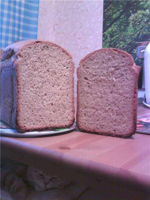 Хлеб пшенично-ржаной на квасе (хлебопечка)