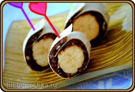 Шоколадно-банановые роллы (Schoko-Bananen-Wrap)