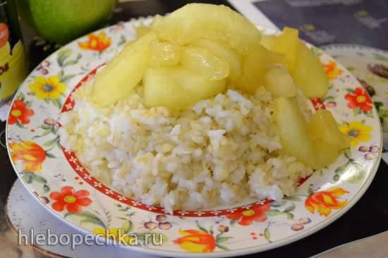 Каша «Рис с булгуром» и карамелизированными фруктами