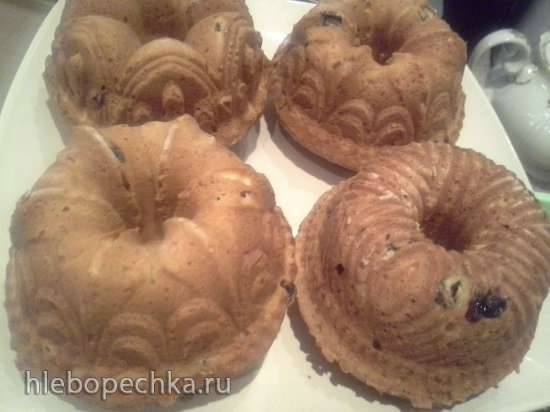 Цельнозерновые творожные кексы с чёрной смородиной