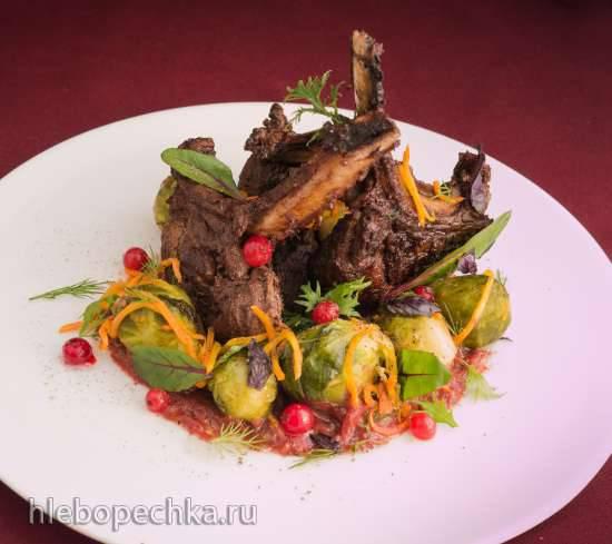 Мясо кабана с брюссельской капустой (Wildschweinbraten mit Rosenkohl)