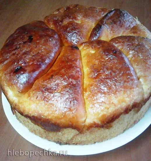Сдобная булка с сахаром (пирог с тАком)