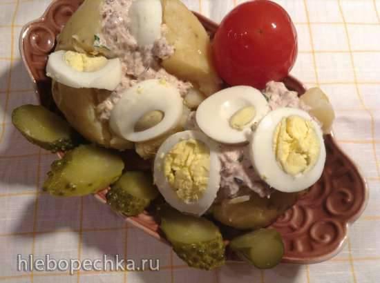 Запеченный картофель с тунцом (Folienkartoffeln mit Thunfisch-Fullung) Запеченный картофель с тунцом (Folienkartoffeln mit Thunfisch-Fullung)