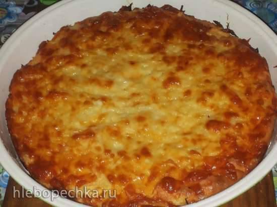 Запеканка из капусты в пиццамейкере Princess 115000