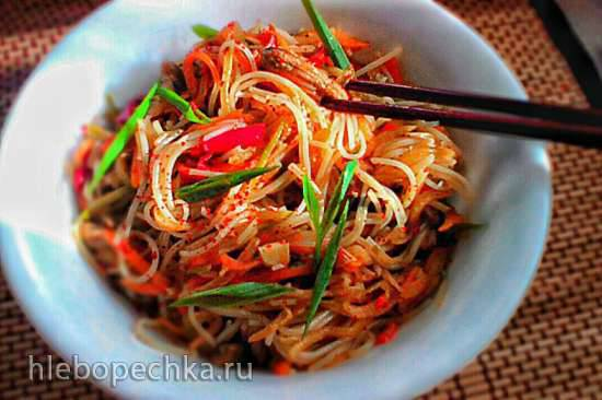 Фунчёза с мясом и овощами (как готовят в Средней Азии)