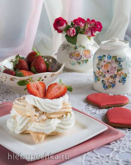 Десерт Павлова (по мотивам) - Dessert Pavlova