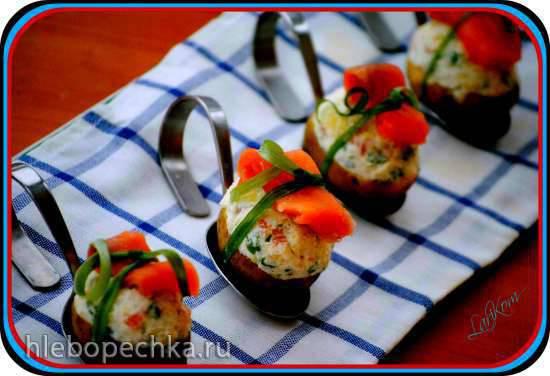 Холодная закуска Фаршированный картофель (Gefuellte Kartoffeln)
