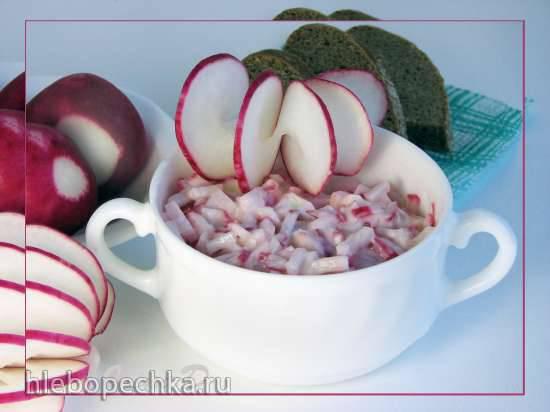 Салат из редиски с сыром (Radieschenfrischkäse)