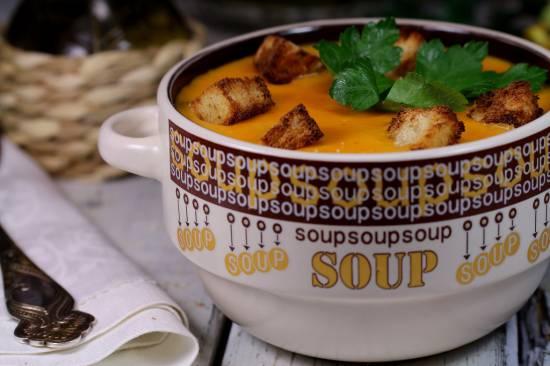 Морковно-рисовый суп-пюре (постный)
