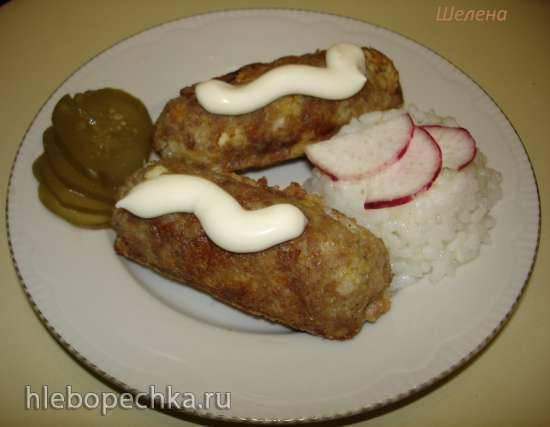 Мясные тефтели-палочки с рисовой начинкой (сосисочница Smile 3633)