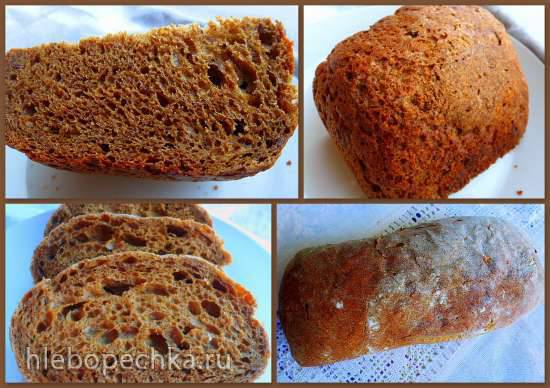 Многозерновой хлеб с шамбалой в программируемой хлебопечке Brand 3801