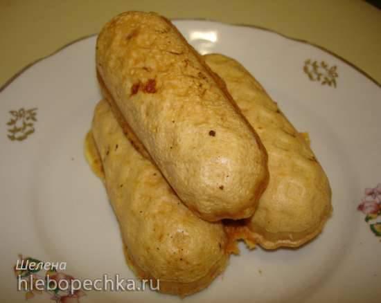Омлетики с начинкой из мяса и сыра в сосисочнице Smile 3633