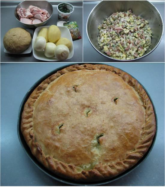 Крымскотатарский пирог с мясом и картошкой Кубете