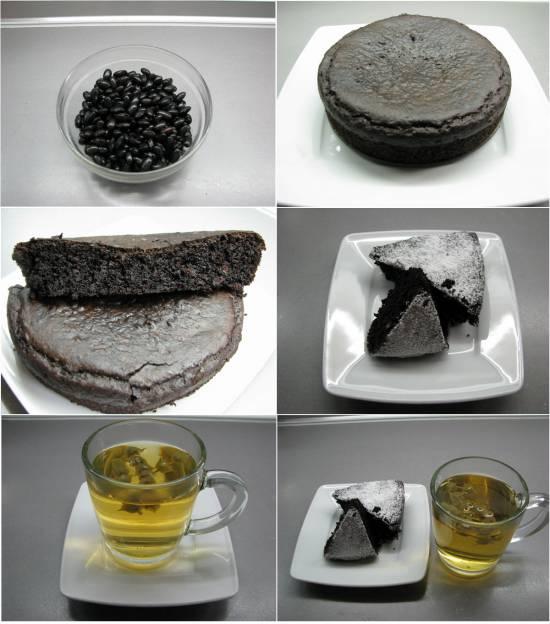 Брауни из черной фасоли к чаю