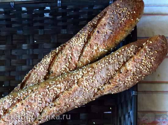 Багеты пшенично-ржаные на закваске Багеты пшенично-ржаные на закваске