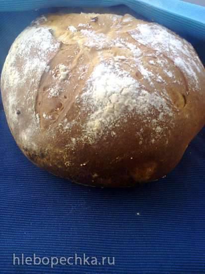 Молочный хлеб с черносливом