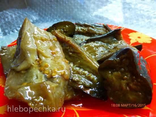 Баклажаны в масляном маринаде (на зиму)