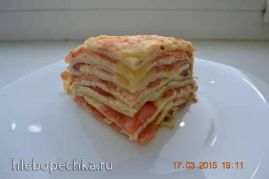 """Блинный торт """"Сырпом"""""""