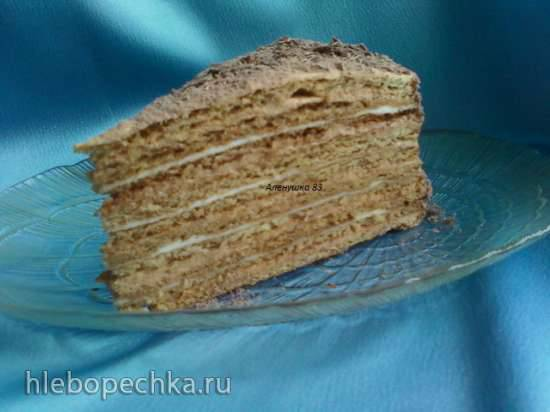 Торт Рыжик с разными кремами