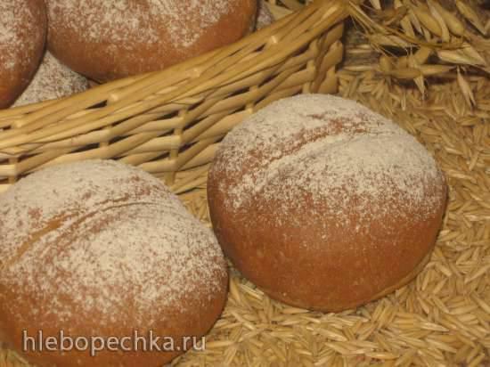 «Хлеб на радость» с овсяной мукой, отрубями и кипрейным/липовым «мёдом» (по мотивам х/ф «Bread of Happiness»)